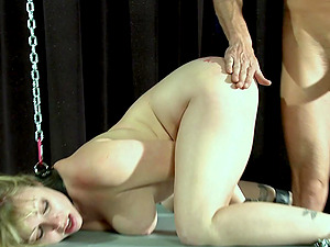 Slave girl Adrianna Nicole tied up and fucked by a pervert