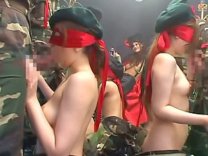 Hot orgy in the military base with some smoking hot sirens