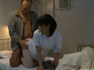 Japanese wifey likes rear end style bang-out after groping a shaft