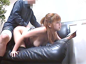Fucky-fucky addicted Japanese lady gets pounded by an interviewer