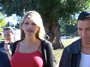 Vicky Vette's Vacuum Vag Drinking Two Sausages in Threesome