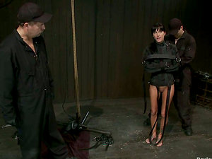 Restrain bondage Act with Gia Dimarco Sucking Hard-on and Getting Toyed
