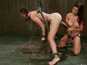 Isis Love Predominates and Strapon Fucks Sinn Sage in Girl-on-girl Domination & submission Vid