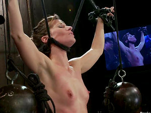 Sexy Honey Predominated and Tantalized in Lezzy Bondage & discipline Flick