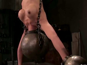 Tia Ling gets string up up head down in stunning Domination & submission clip