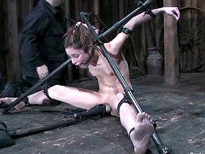 Sassy honey gets tied up with some restrain bondage belts