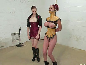 Huge-chested red-haired siren Mz Berlin is being suspended
