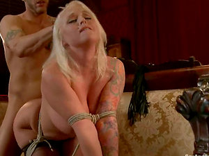 Bootylicious blonde Angel Vain gets fucked rear end style in Sadism & masochism scene