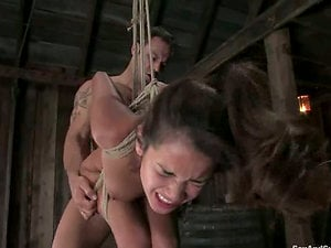 Her mouth gets ball ball-gagged after she gives a head