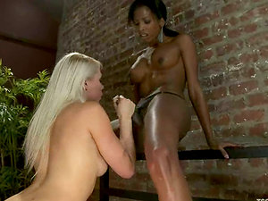 Lorelei Lee gets fucked by black tranny Natassia Desire and some man