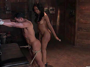 Lobo and hot shemale Sexy Jade have ardent hump in a lovely Domination & submission clip