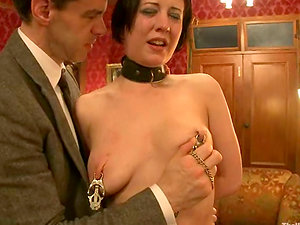 Cherry Ripped gets abased by her master in a bedroom