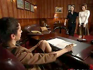 Princess Donna Dolore gets kinky with some damsel in Sadism & masochism scene