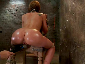 Facehole Fucking and Buttfuck Frolicking for Tied Up Chick Amy Brooke
