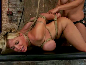 Holly Halston Tied Up and Strapon Fucked in Female Supremacy Vid