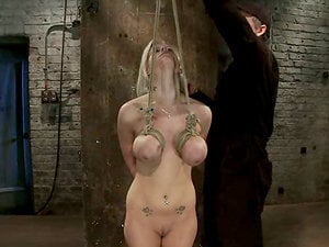 Big Boobed Haley Cummings Toyed while Tied by Isis Love
