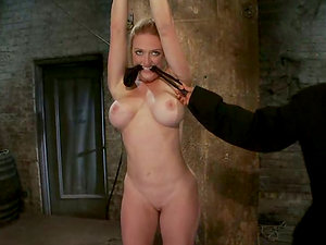 Sexy Darling shows her acrobatic abilities in restrain bondage vid