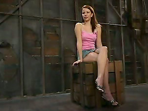 Amazing sandy-haired gets belted and spasmed pretty hard