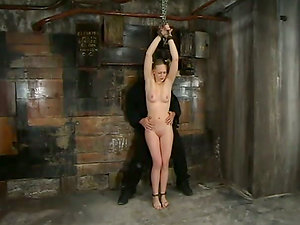 Machines Fuck Chloe Hart while She's Tit Tantalized and Tied