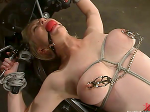 Extreme Restrain bondage with Torment and Spanking Activity for Adrianna Nicole