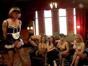 Female domination Joy in Switch roles Group sex for Two Guys by Slew Kinky Gals