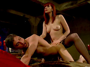 Manstick Railing and Pegging Activity in Female dominance Vid with Maitresse Madeline