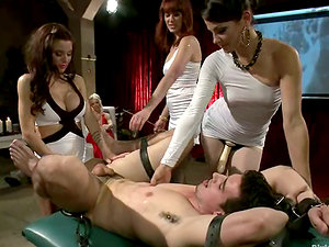 Switch roles Gang-bang with Pegging Featuring Three Hot Imperious Stunners