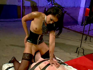 Skin Diamond Pegging and Face Sitting Stud in Female dom Vid