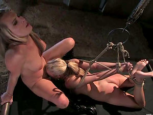 Harmony whips and frigs Jordan Kingsley's vag in Domination & submission scene