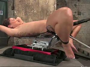Torment and Machine Fucking for Jandi Lin in Restrain bondage Flick