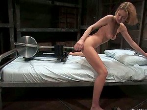 Emily Evermoore Hot Blonde Fucked by Machine and Sybian saddle