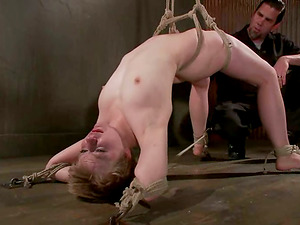Alani Pi gets restrained and fucked with fucktoys in a basement