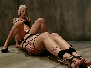 Strapped Blonde Ashley Fires Getting Face Sit by Lorelei Lee
