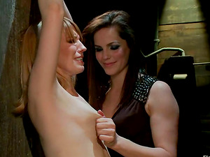 Wire Restrain bondage Female dom with Nip Torment and Frolicking for Mallory Mallone