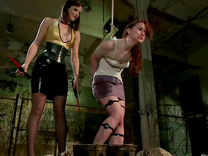 Restrain bondage and Supremacy in Lesbo Movie for AnnaBelle Lee