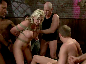 Sexy Skylar Price gets bounded and fucked in all fuckholes