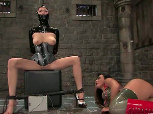 Subordinated female gets fingerblasted and predominated by a female