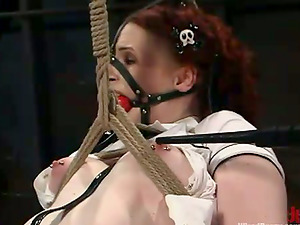 Extreme Restrain bondage and Torment in Wild Girl/girl Bondage & discipline Movie