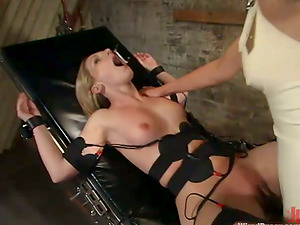 Stunning Blonde Predominates Female in Wild Girl-on-girl Bondage & discipline Movie