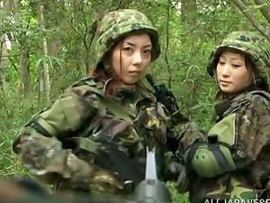 Japanese army dame gets captured and fucked hard