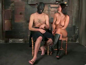 Masked Fellow Strapon Fucked by Imperious Sandra Romain in Domination & submission