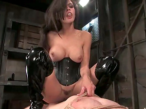 Predominated Man Gets Face Sit from Bashful Love Before Pegging in Domination & submission Vid