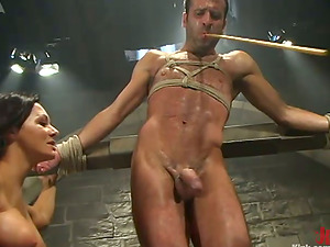 Face Sitting and Dick Tormenting in Bondage & discipline Female domination Movie with Sandra Romain