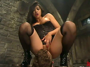 Asian Mika Suntan Having Joy Predominant a Man in Sadism & masochism Female domination