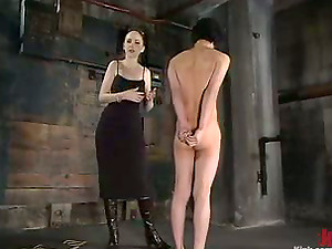 Asian Fellow Gets Tied Up in Female domination Torment Sadism & masochism Flick