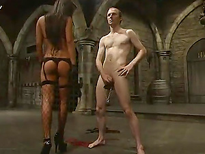 Kinky Lucy Lee ties up some pallid dude and tantalizes him