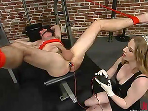 Princess Kali Playing with a Fellow's Butt and Penis in Female dominance Domination & submission Vid