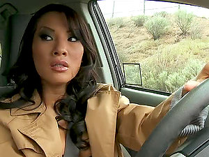 Asa Akira Gets Covered With hot Jism in A Threesome