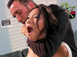 Hot Asian Inmate Asa Akira Dual Penetrated by Cops