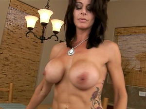 Cougar with Big Round knockers Raquel Amato Sucking Dick in Point of view